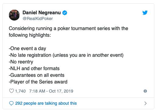 Daniel Negreanu有意推出全新扑克系列赛
