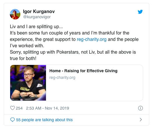 Liv Boeree, Igor Kurganov宣布离开扑克之星