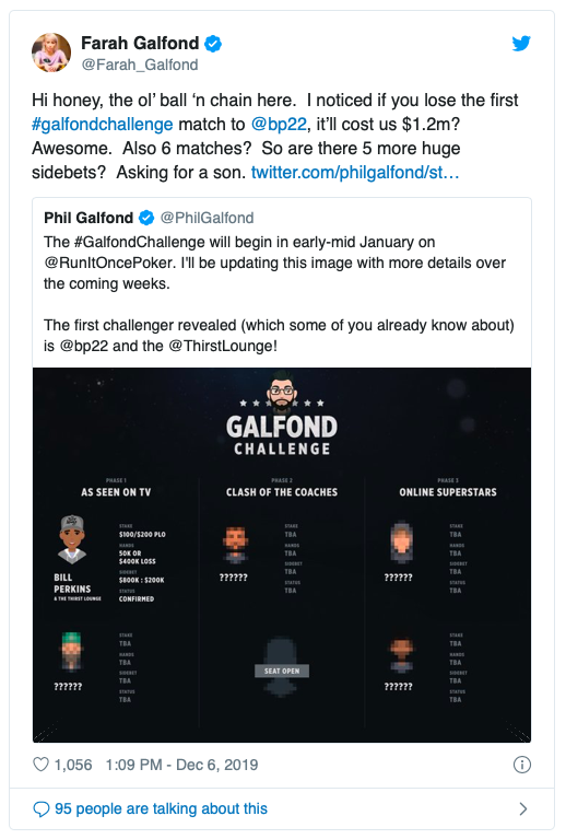 Bill Perkins挑战Phil Galfond发起的PLO一对一挑战赛