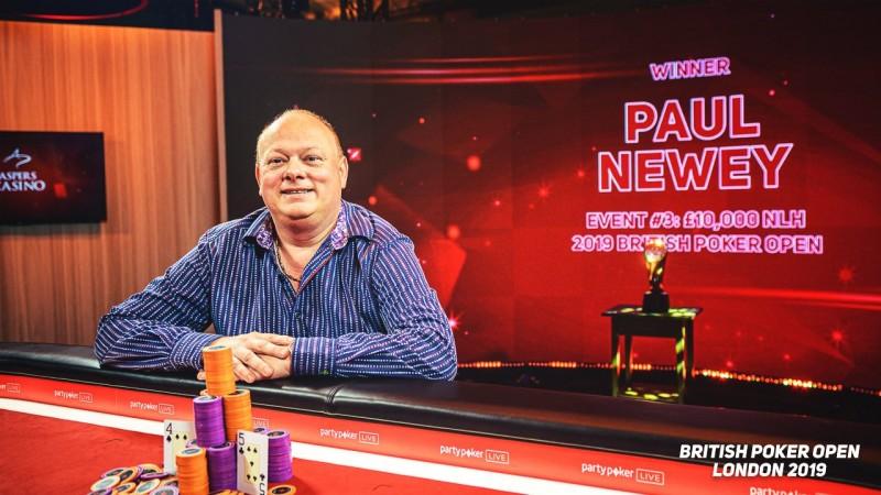 Paul Newey取得英国扑克公开赛£10K NLH冠军,Sam Soverel再获亚军