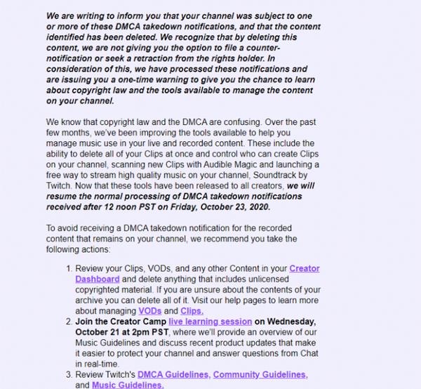 扑克玩家对Twitch DMCA版权罢工做出反应