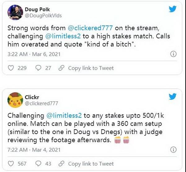 Doug Polk怀疑Fedor Holz vs limitless单挑有猫腻